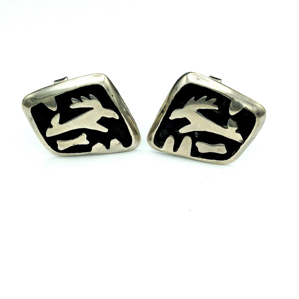 Vintage Sterling Silver Cuff Links
