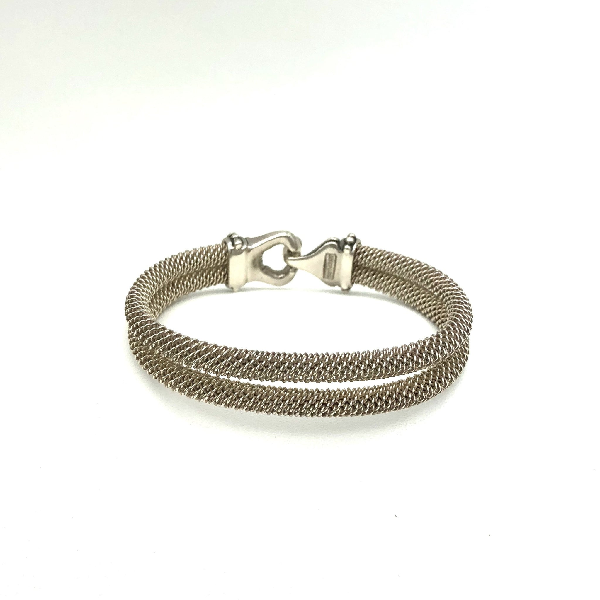 Sterling Silver Interlocking Buckle Bracelet
