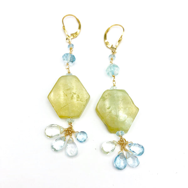 Aquamarine Drop Earrings