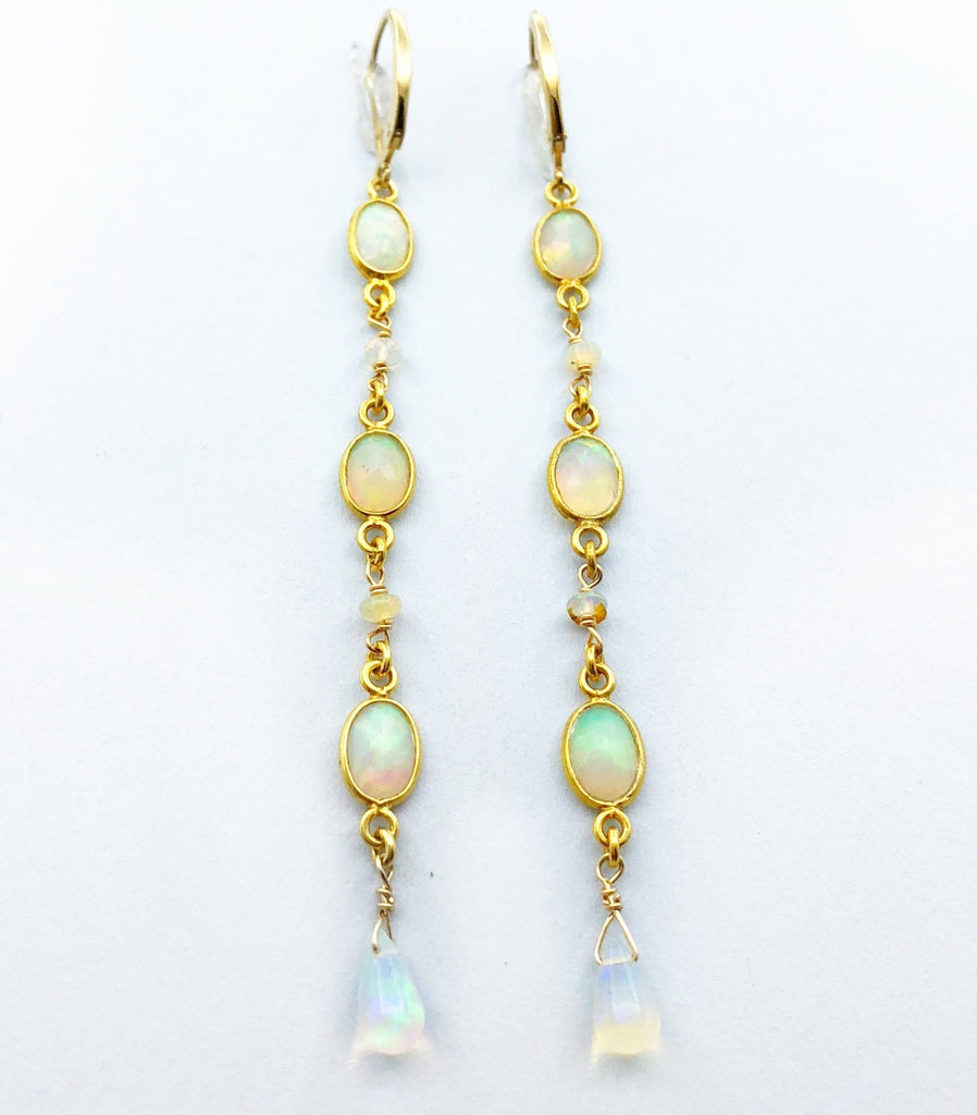Opal Gold Vermeil Earrings