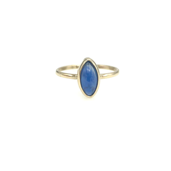 Blue Sapphire 14K Gold Ring