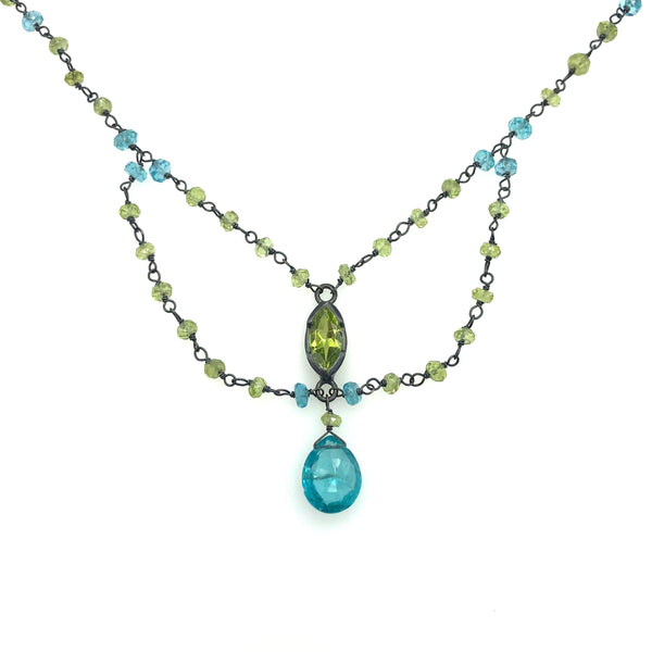 Peridot Apatite necklace
