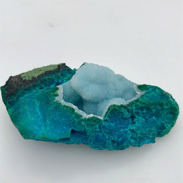 Large Chrysocolla Mineral Specimen Bright Blue Bright Turquoise Crystal