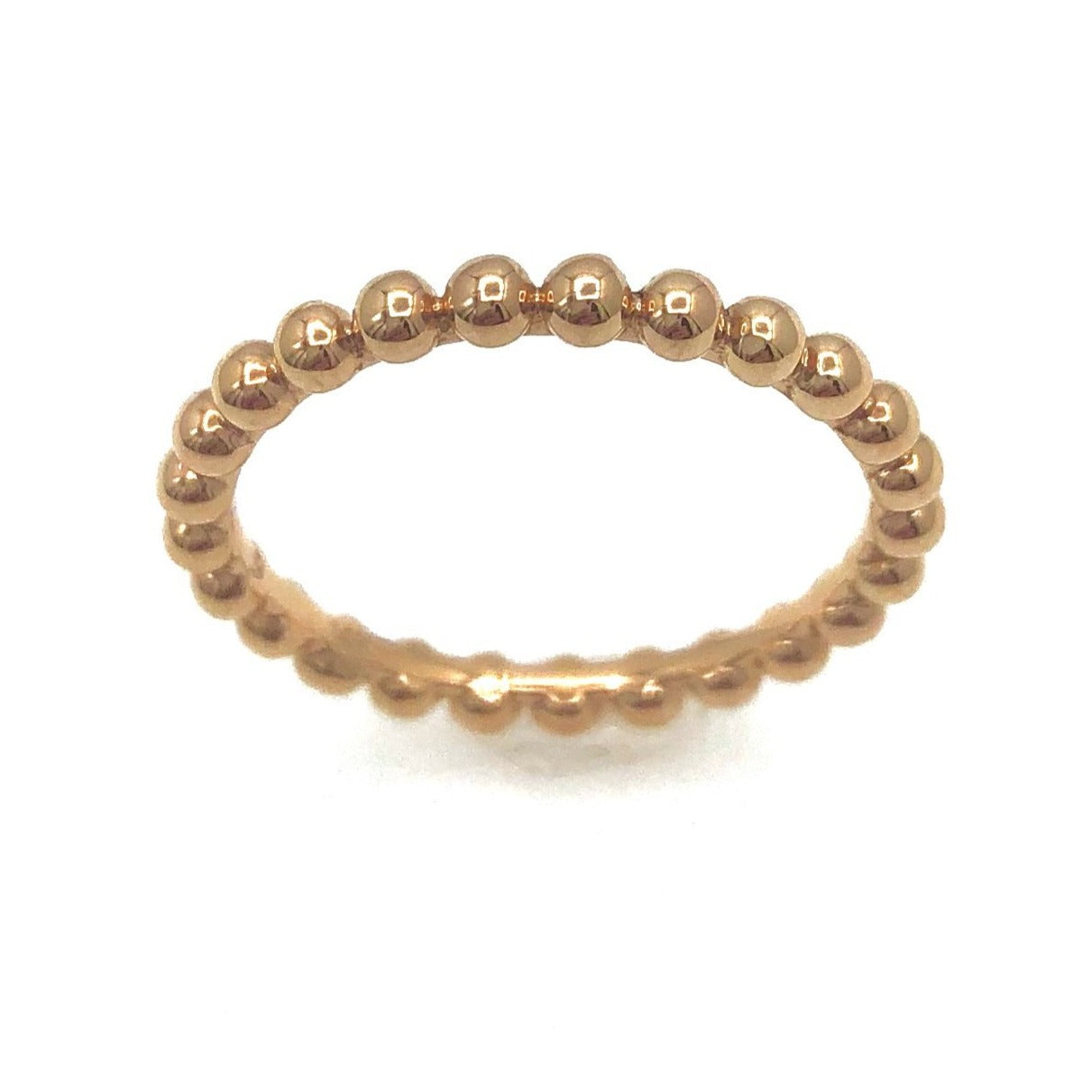 Rose Gold Beaded Ball Ring
