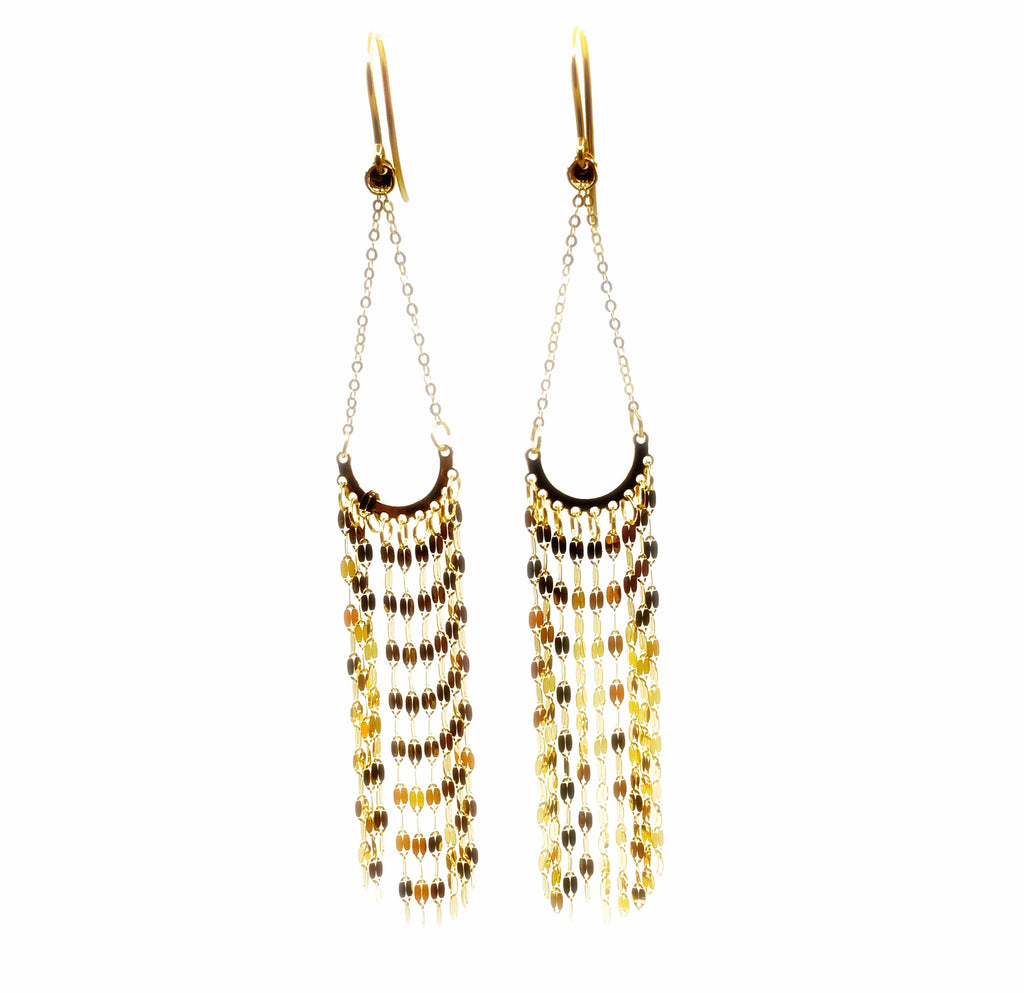 14 Karat Yellow Gold Chandelier Earrings