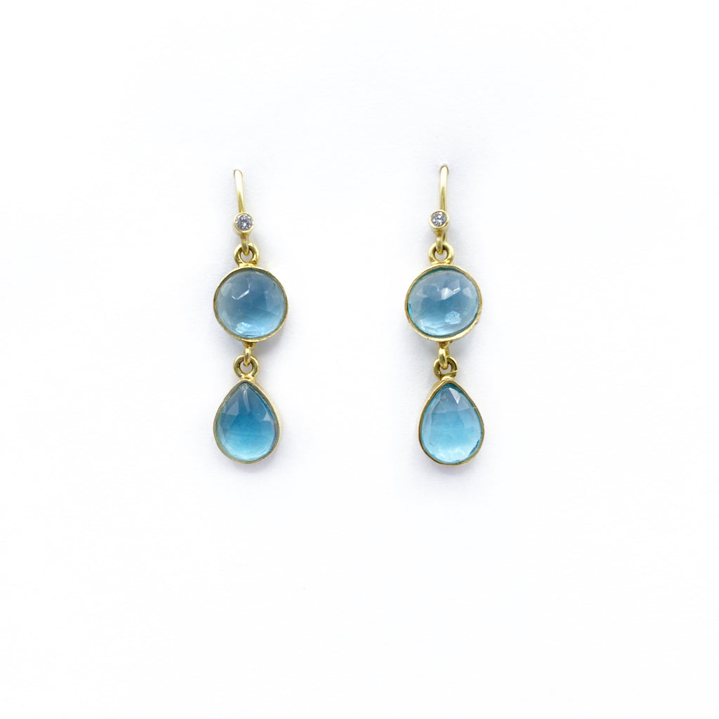 Moss Aqua Earrings