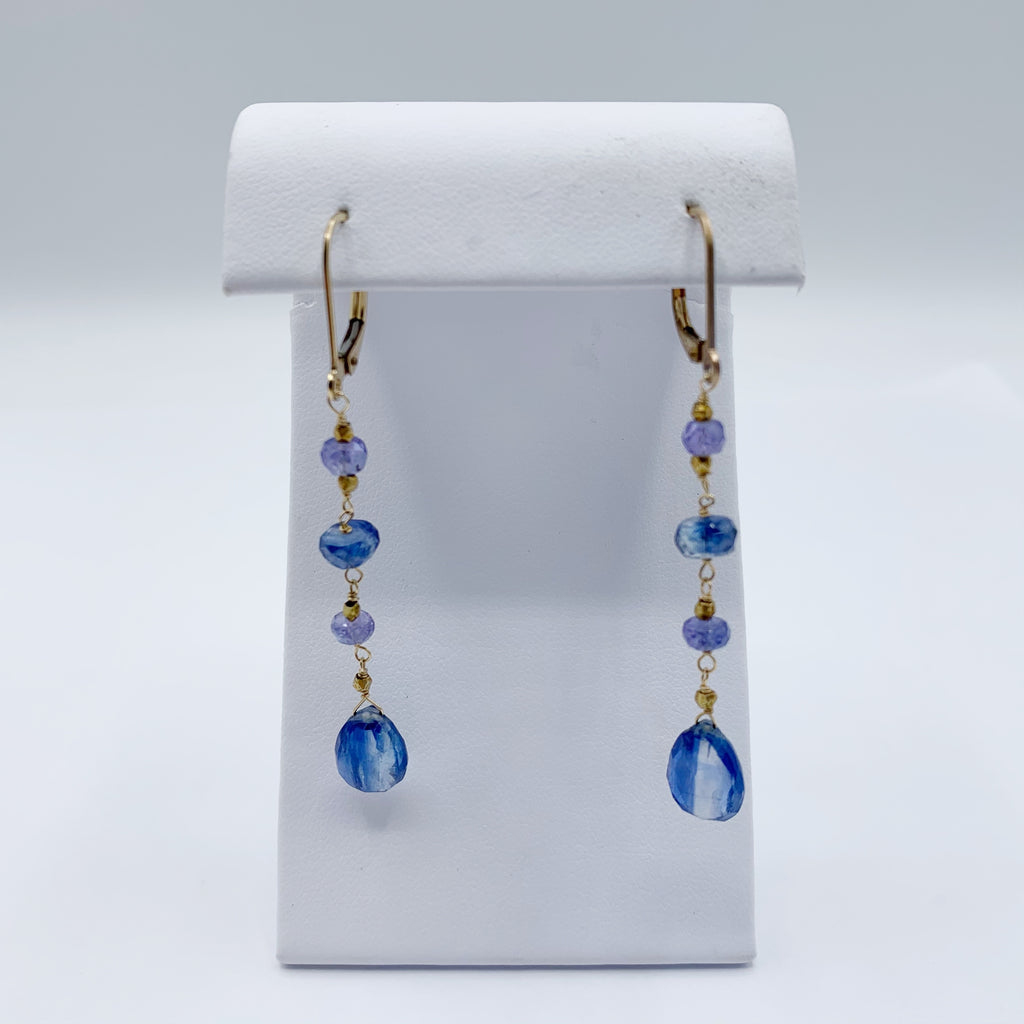 Gold Filled Kyanite Earrings