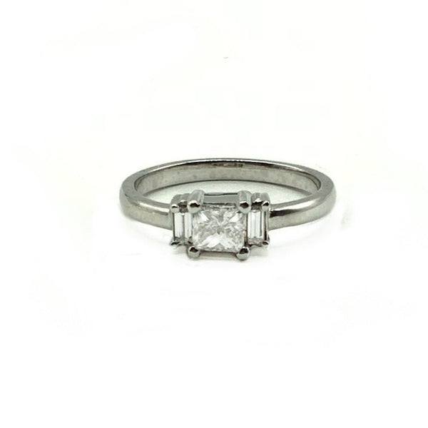 Princess Cut Diamond Ring With Platinum Band