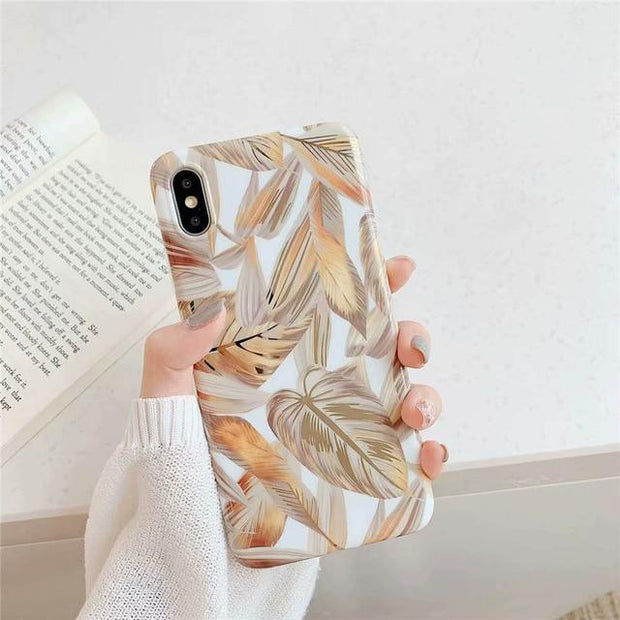 Glossy Gold Leaf iPhone case - GirlsCrazy