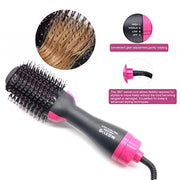 3 in 1 Volumiser Hairdryer Brush - GirlsCrazy