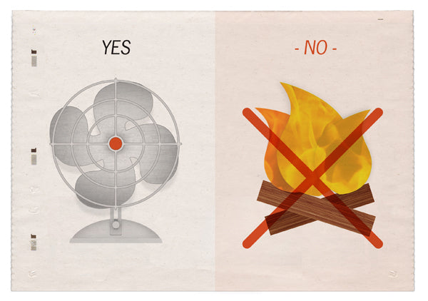 fan - yes, campfire, no