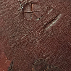 Example of branded leather has embedded symbols