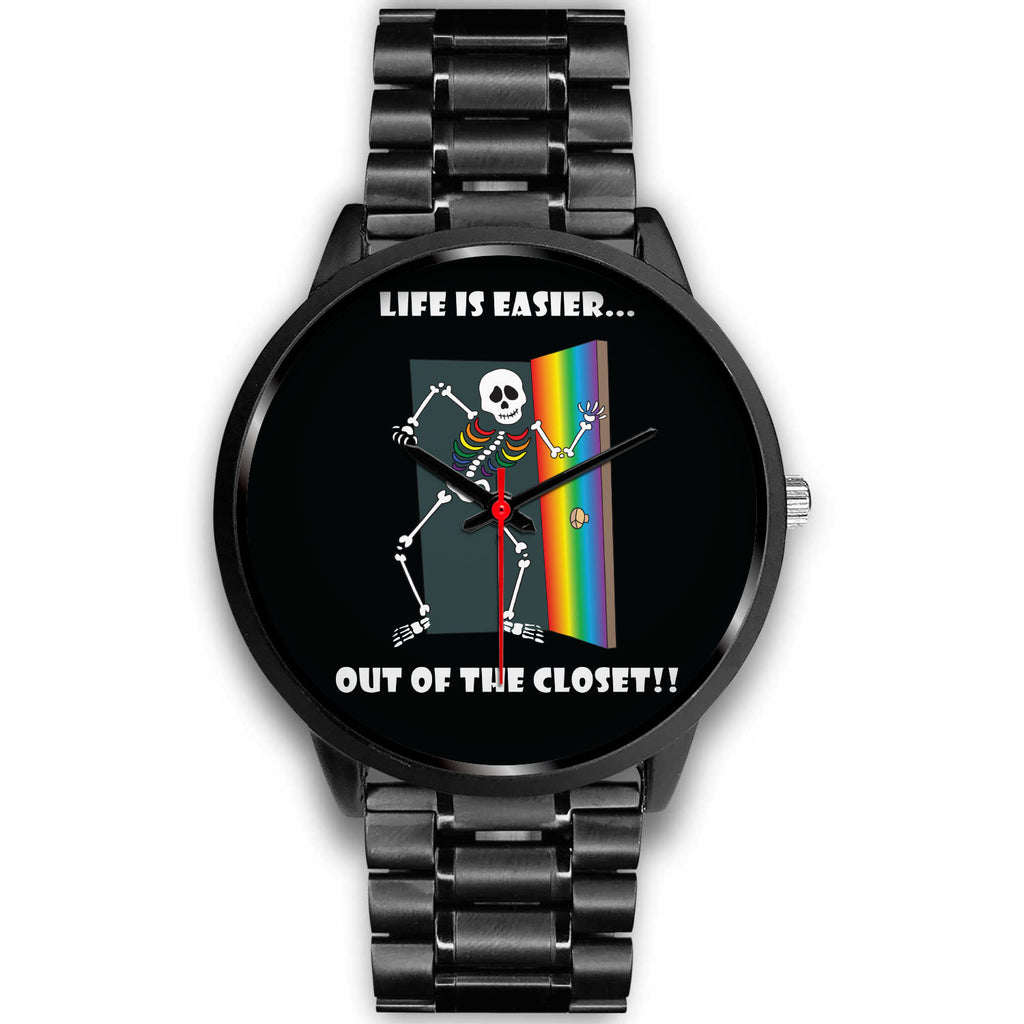 Life Is Easier Out Of The Closet LGBT Custom Design Watch