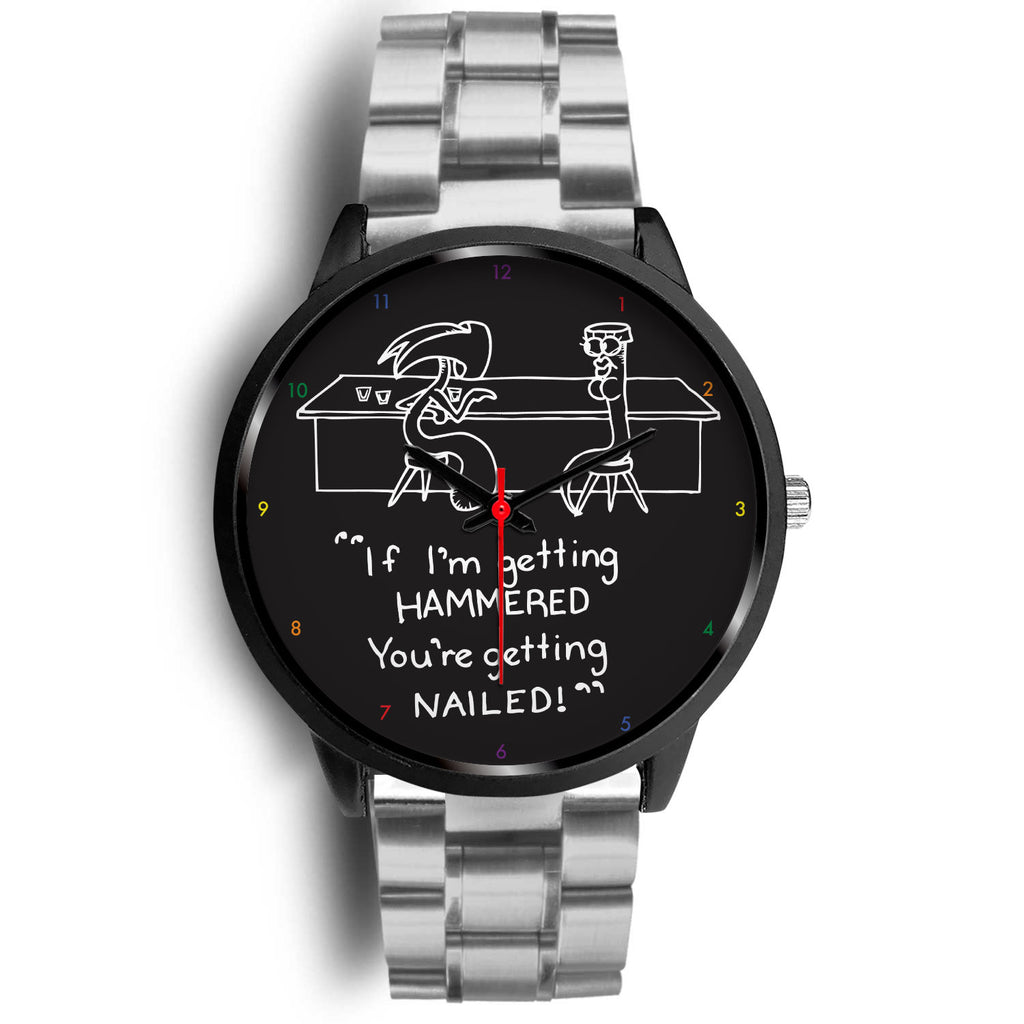 Hammer & Nail Bar-themed Pick-me-up Custom Design Watch
