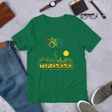 Tribe of the Union Rings Male Gender Identity Yellow Skyline Big 'O' Games Short-sleeve Unisex T-shirt