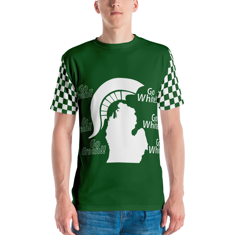 Michigan State Spartan Football Men's All-Over T-shirt Design