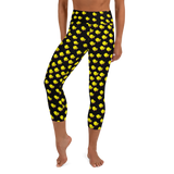 Chicks, Chicks, and more Chicks on a Black Background All-Over Print Yoga Capri Leggings