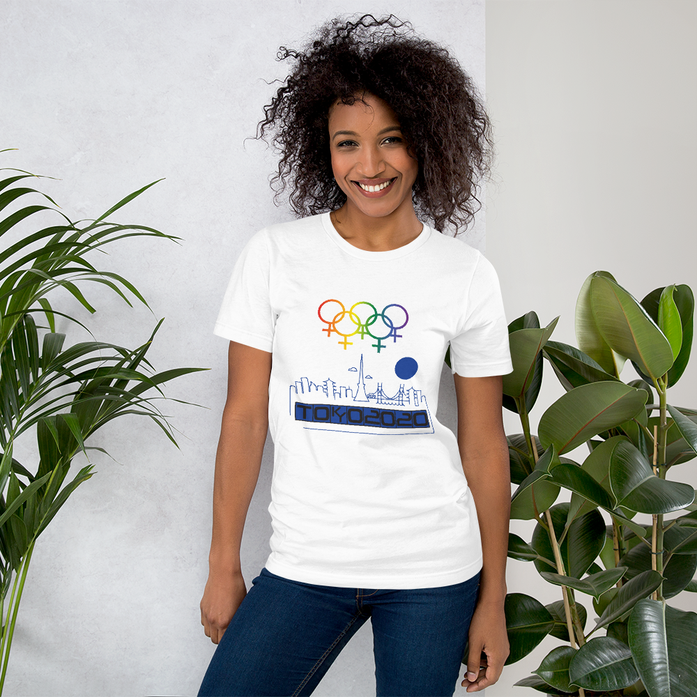 Tribe of the Union Rings Female Gender Identity Blue Skyline Big 'O' Games Short-Sleeve Unisex T-Shirt