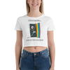 Life Is Easier Out Of The Closet/Heck, Yeah!!  Women's Crop Tee