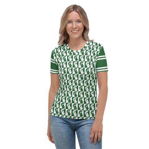Michigan State Spartan Football Women's All-Over T-shirt Design