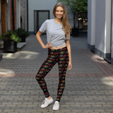 "Tribe of the Union Rings LGBT ""Love"" Dark Background All-Over Print Leggings"
