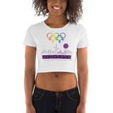 Tribe of the Union Rings Female Gender Identity Purple Skyline Big 'O' Games Women's Crop Tee