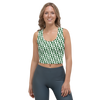 Michigan State Spartan Football Women's All-Over Design Crop Top