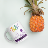 Tribe of the Union Rings Male Gender Identity Purple Skyline Big 'O' Games 11oz./15oz. Coffee Mug