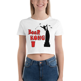 Beer Kong Pub Crawl and Bar-themed Lighter Colors Women's Crop Tee