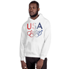 Tribe of the Union Rings USA Male Gender Identity Red, White, and, Blue colored Unisex Hoodie