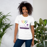 Tribe of the Union Rings Female Gender Identity Purple Skyline Big 'O' Games Short-Sleeve Unisex T-Shirt