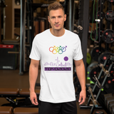 Tribe of the Union Rings Male Gender Identity Purple Skyline Big 'O' Games Short-sleeve Unisex T-shirt