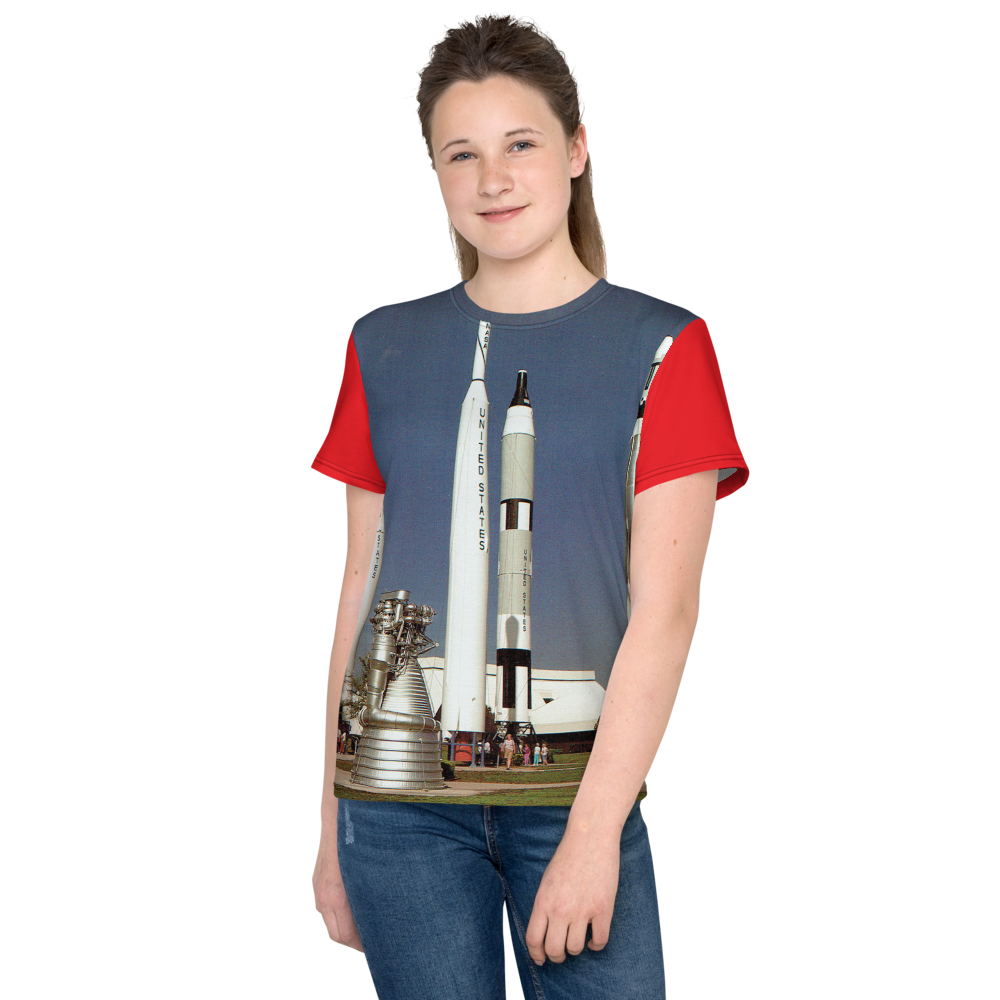 Kennedy Space Center Rocket Garden Spaceport Florida USA Youth's All-Over T-Shirt