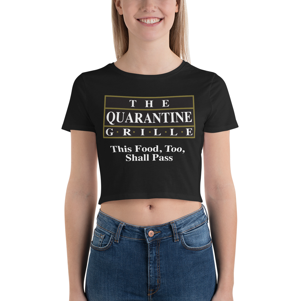 The Quarantine Grille Women's Crop Tee