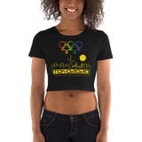 Tribe of the Union Rings Female Gender Identity Yellow Skyline Big 'O' Games Women's Crop Tee