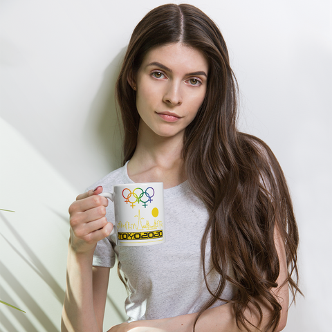 Tribe of the Union Rings Female Gender Identity Yellow Skyline Big 'O' Games 11 oz. Coffee Mug