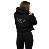 The Quarantine Grille Crop Hoodie