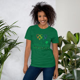 Tribe of the Union Rings Female Gender Identity Green Skyline Big 'O' Games Short-Sleeve Unisex T-Shirt
