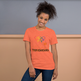 Tribe of the Union Rings Female Gender Identity Orange Skyline Big 'O' Games Short-Sleeve Unisex T-Shirt
