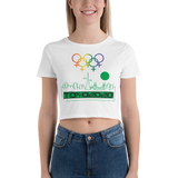 Tribe of the Union Rings Female Gender Identity Green Skyline Big 'O' Games Women's Crop Tee