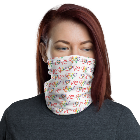 "Tribe of the Union Rings LGBT ""Love"" Neck Gaiter - For Good Times and Bad Times"