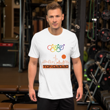 Tribe of the Union Rings Male Gender Identity Orange Skyline Big 'O' Games Short-sleeve Unisex T-shirt