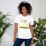 Tribe of the Union Rings Female Gender Identity Yellow Skyline Big 'O' Games Short-sleeve Unisex T-shirt