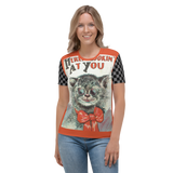 Vintage Post Card Cat Lovers - Here's Lookin' At You Women's All-Over T-shirt