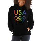 Tribe of the Union Rings USA Female Gender Identity LGBTQ colored Unisex Hoodie