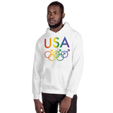 Tribe of the Union Rings USA Male Gender Identity LGBTQ colored Unisex Hoodie