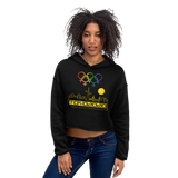 Tribe of the Union Rings Female Gender Identity Yellow Skyline Big 'O' Games Crop Hoodie