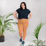 Chicks, Chicks, and more Chicks on a Pink Background All-Over Print Plus Size Leggings