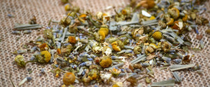 chamomile and lavender herbal tea