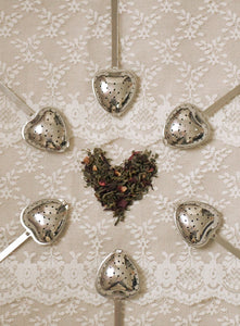 Loose Tea Infuser. Heart Shaped, Stainless Steel Tea Spoon.